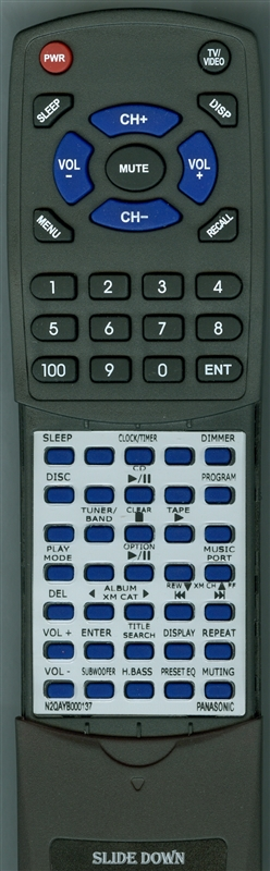 PANASONIC N2QAYB000137 Custom Built Redi Remote