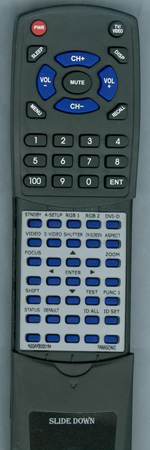 PANASONIC N2QAYB000164 Custom Built Replacement Redi Remote