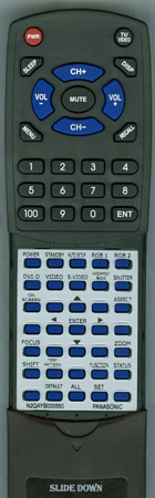 PANASONIC N2QAYB000550  Custom Built Redi Remote