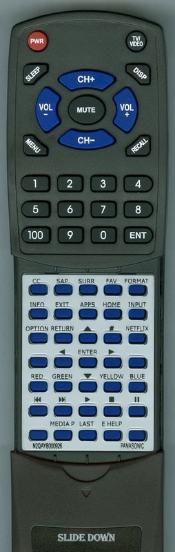 PANASONIC N2QAYB000926 Custom Built Redi Remote
