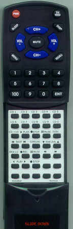 PANASONIC RAKSA502P Custom Built Replacement Redi Remote