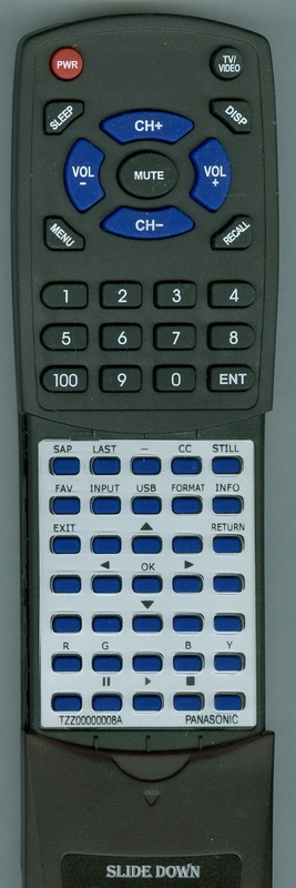 PANASONIC TZZ00000008A  Custom Built   Redi Remote