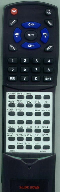 PANASONIC VSQS1436 Custom Built Redi Remote