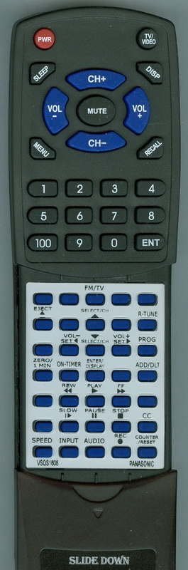 PANASONIC VSQS1608 VSQS1608  Custom Built   Replacement Redi Remote