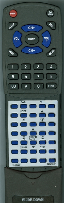 PANASONIC YEFX9992011 CARC70EX Custom Built Replacement Redi Remote