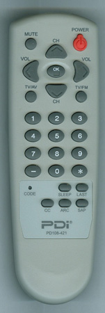 PDI PD108-421 Genuine OEM Original Remote