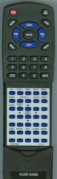 PHILIPS 310420709390 RC2011 Custom Built Replacement Redi Remote