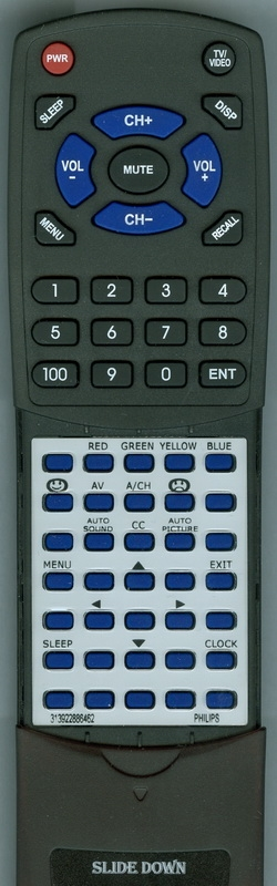 PHILIPS 313922886462 Custom Built Replacement Redi Remote