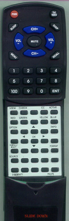 PHILIPS 313923814171 RC2033601 Custom Built Replacement Redi Remote