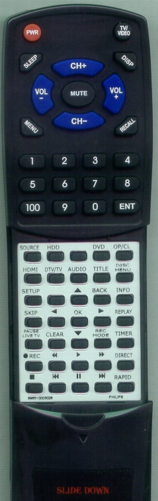PHILIPS 996510003026 Custom Built Replacement Redi Remote