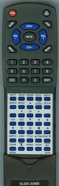 PHILIPS NC203UH NC203 Custom Built Redi Remote