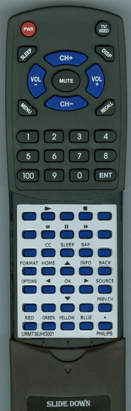 PHILIPS URMT39JHG001 Custom Built Redi Remote