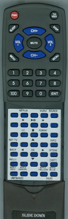 PHILIPS URMT39JHG002 Custom Built Replacement Redi Remote