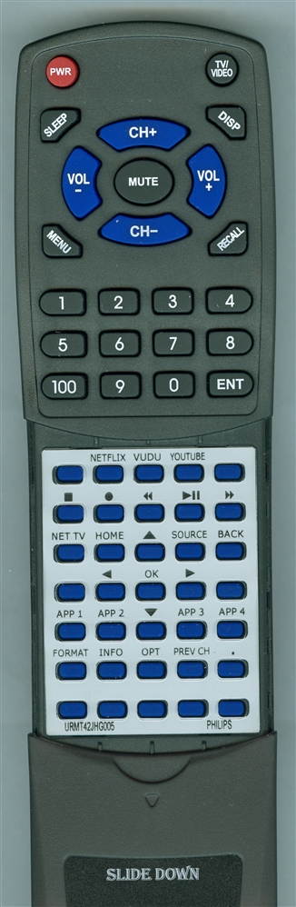 PHILIPS URMT42JHG005 Custom Built Redi Remote