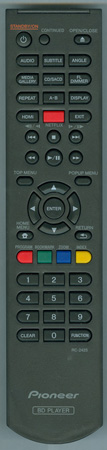 PIONEER 06-T2446E-A002 RC2425 Genuine OEM Original Remote