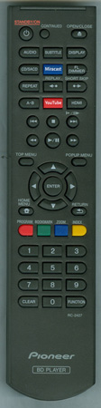 PIONEER 06-T2446E-D004 RC-2427 Genuine OEM Original Remote