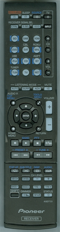 PIONEER 8300772100010S AXD7721 Genuine OEM Original Remote