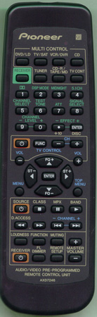 PIONEER AXD7246 Genuine OEM Original Remote