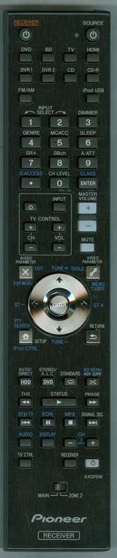 PIONEER AXD7518 Genuine OEM Original Remote
