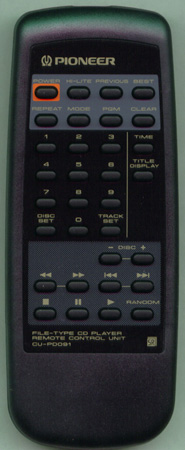 PIONEER PWW1126 CU-PD091 Genuine OEM original Remote