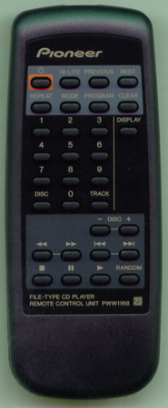 PIONEER PWW1168 Genuine OEM Original Remote
