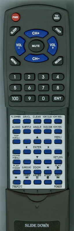 PIONEER 07650PC010 VXX3257 Custom Built  Replacement Redi Remote