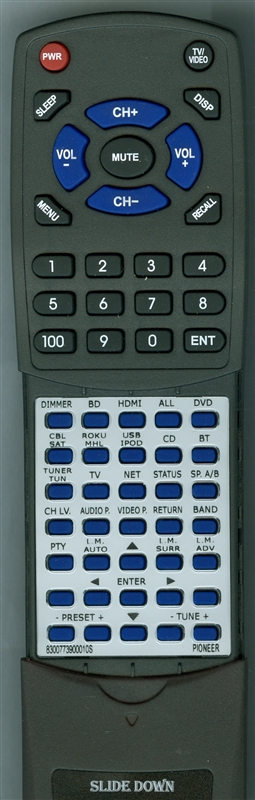 PIONEER 8300773900010S AXD7739 Custom Built Redi Remote