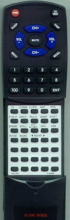 PIONEER AXD1279 CUSD063 Custom Built Replacement Redi Remote