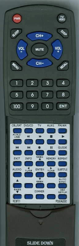 POLK RE3670-1 DR-5 Custom Built Redi Remote