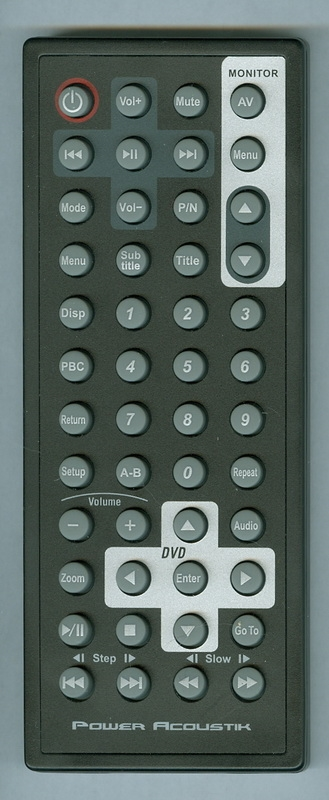 POWER ACOUSTIK HDVD9 Genuine OEM Original Remote