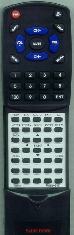 PRO BRAND INTL HD3150 DIGITAL STREAM Custom Built Redi Remote