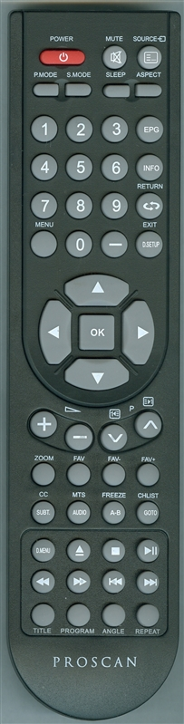 PROSCAN 9D PRO Genuine OEM Original Remote