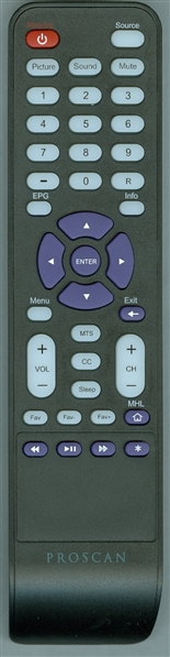 PROSCAN PLDED4831ARK Genuine OEM Original Remote