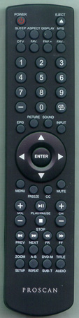 PROSCAN RE20QP05 Genuine OEM Original Remote