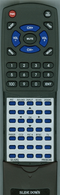 PROSCAN RT32LA25Q  Custom Built Redi Remote