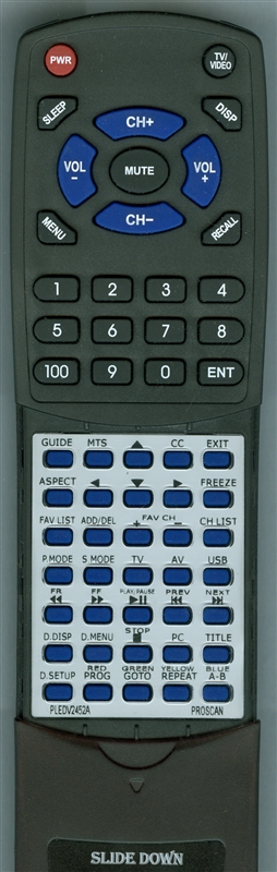 PROSCAN PLEDV2452A Custom Built Redi Remote