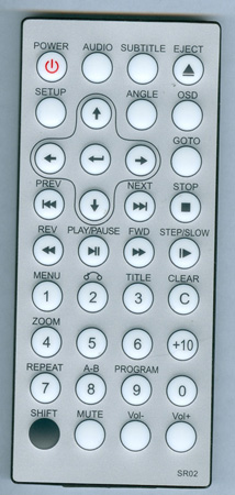 PYLE PL7DHRB SR02 Genuine OEM Original Remote