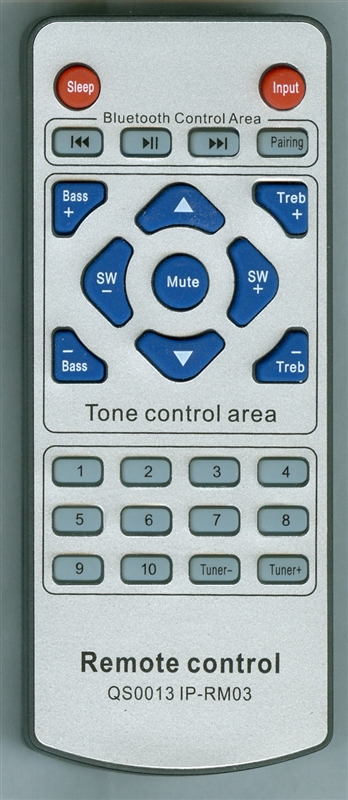 PYLE PSBV320BT QS0013 IP-RM03 Genuine  OEM original Remote