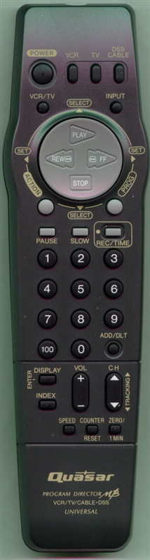 QUASAR VSQS1562 Genuine  OEM Original Remote