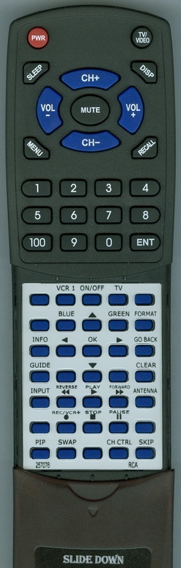 RCA 257076 RCR160TBLM1 Custom Built Redi Remote