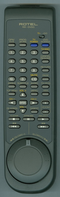 ROTEL RR-DV93 Genuine OEM Original Remote