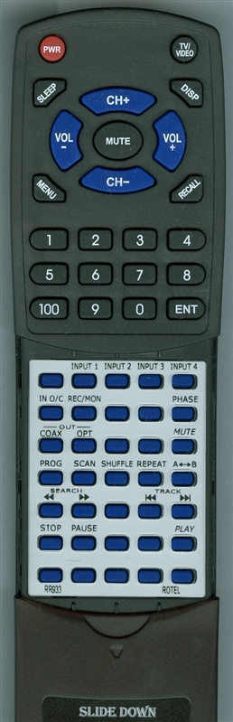 ROTEL RR933 RR933 Custom Built  Replacement Redi Remote