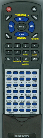 SAMSUNG AH59-02370A Custom Built Replacement Redi Remote