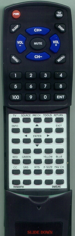 SAMSUNG BN59-00678A Custom Built Redi Remote