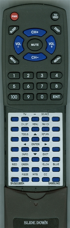 SAMSUNG BN59-00885A  Custom Built   Redi Remote