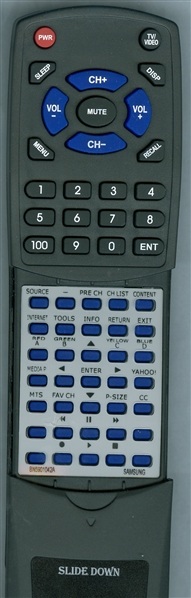 SAMSUNG BN59-01042A Custom Built Redi Remote