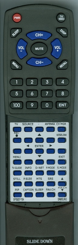 SAMSUNG BP59-00115A  Custom Built   Replacement Redi Remote