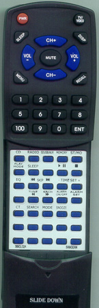 SANGEAN 389QL02-A RCP5 Custom Built Replacement Redi Remote
