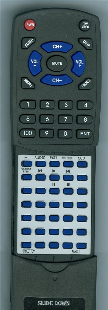SANSUI 076E0TT011 Custom Built  Redi Remote