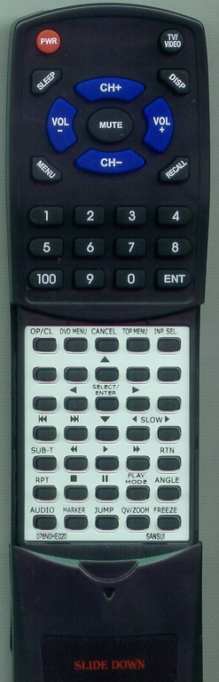 SANSUI 076N0HE020 Custom Built Replacement Redi Remote